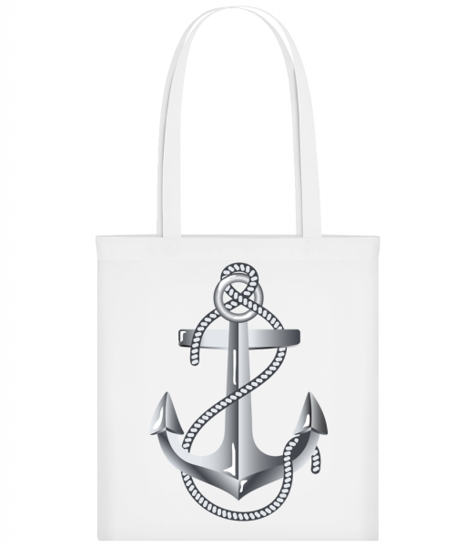 Anchor Rope Comic Silver - Carrier Bag - White - Vorn