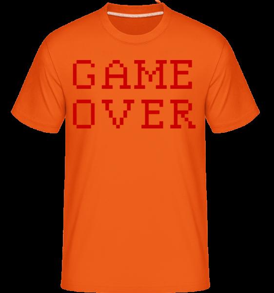 Game Over Pixel - Shirtinator Männer T-Shirt - Orange - Vorn