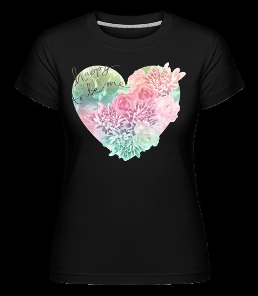 Happy To Be Me - Shirtinator Women's T-Shirt - Black - Front