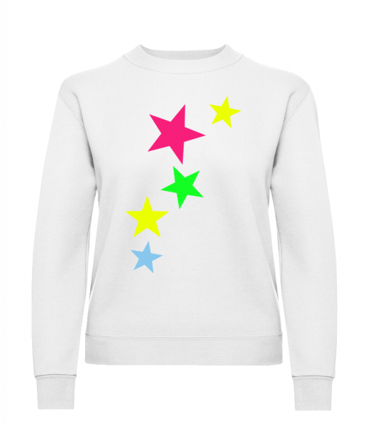 Colorful Stars - Classic Ladies' Set-In Sweatshirt - White - Vorn