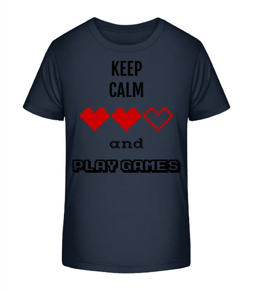 Play Games - Kinder Premium Bio T-Shirt - Marine - Vorn
