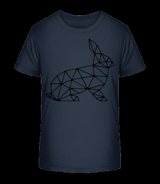 Polygon Hase - Kinder Premium Bio T-Shirt - Marine - Vorn