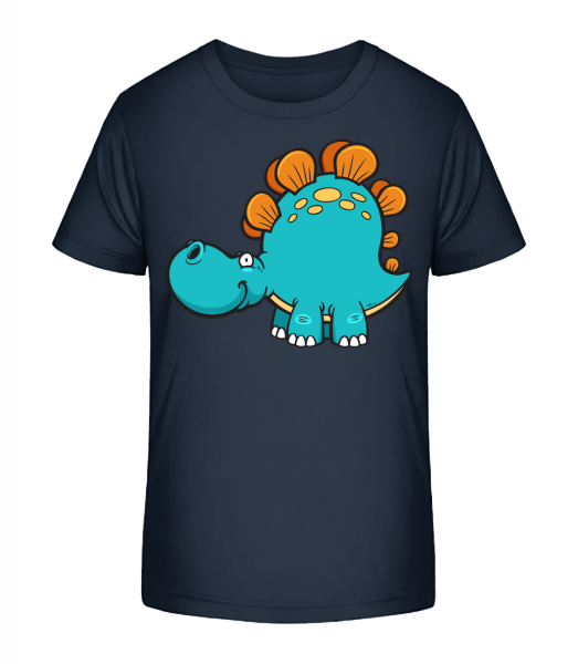 Comic Diplodocus - Kinder Premium Bio T-Shirt - Marine - Vorn