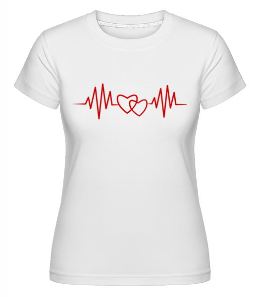 Herzschlag - Shirtinator Frauen T-Shirt - Weiß - Vorn