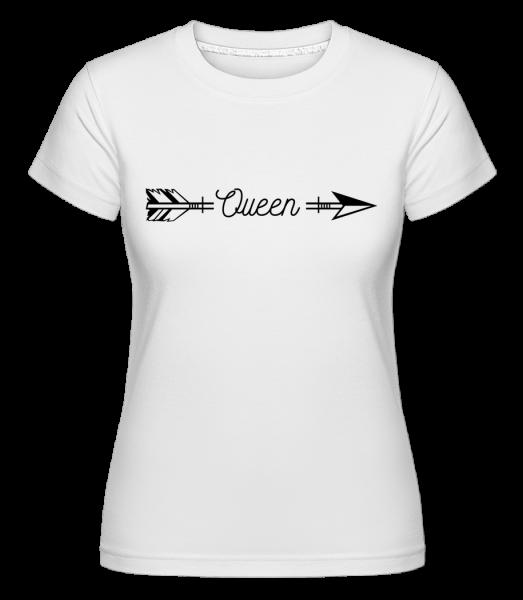 Queen Arrow - Shirtinator Frauen T-Shirt - Weiß - Vorn