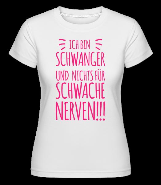 Ich Bin Schwanger - Shirtinator Frauen T-Shirt - Weiß - Vorn