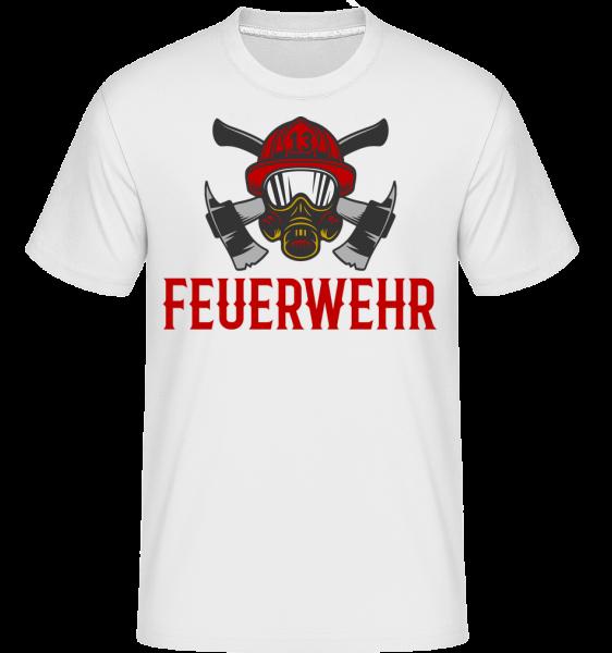 Feuerwehr Helm - Shirtinator Männer T-Shirt - Weiß - Vorn