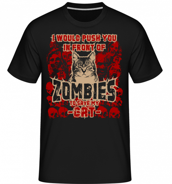 Save My Cat - Shirtinator Männer T-Shirt - Schwarz - Vorn