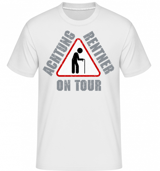 Achtung Rentner On Tour - Shirtinator Männer T-Shirt - Weiß - Vorn