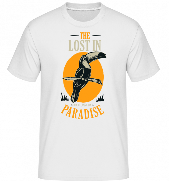 Bird Lost In Paradise -  Shirtinator Men's T-Shirt - White - Front