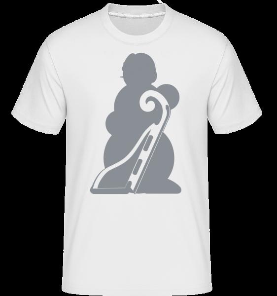 Sledge Snowman Grey - Shirtinator Männer T-Shirt - Weiß - Vorn
