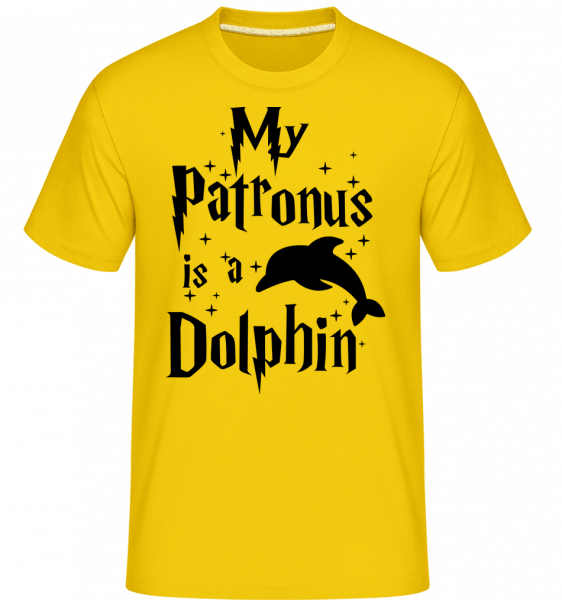 My Patronus Is A Dolphin - Shirtinator Männer T-Shirt - Goldgelb - Vorn