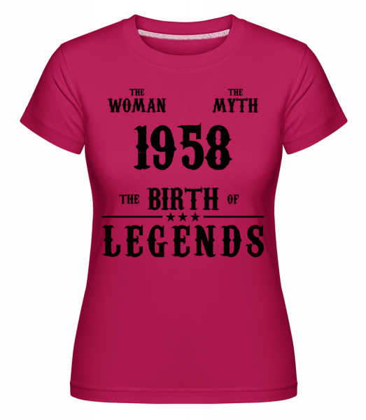 The Myth Woman 1958 - Shirtinator Frauen T-Shirt - Magenta - Vorn