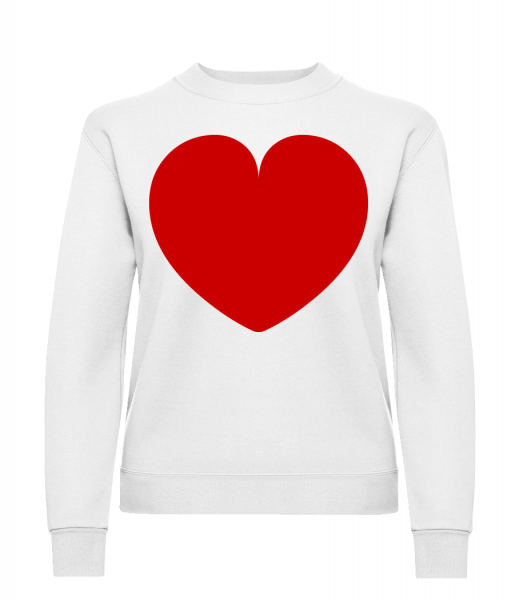 Heart - Classic Ladies' Set-In Sweatshirt - White - Vorn