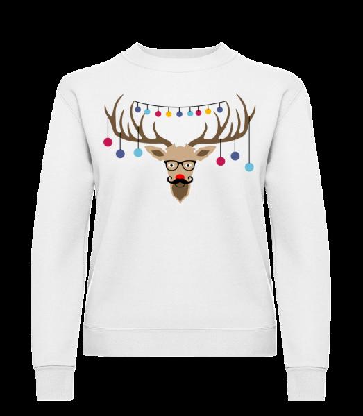 Weihnachten Rentier - Frauen Pullover - Weiß - Vorn