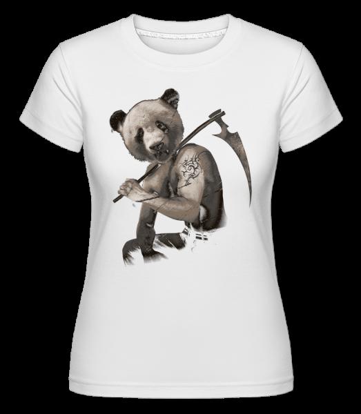 Sensen Panda - Shirtinator Frauen T-Shirt - Weiß - Vorn