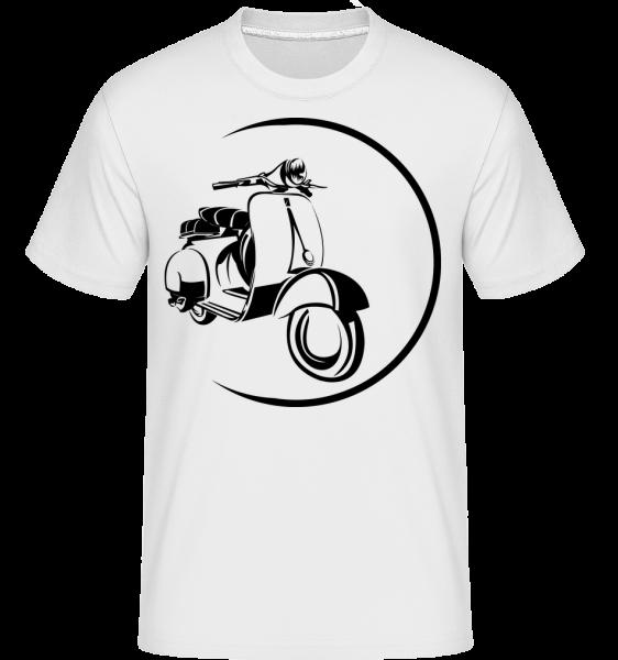 Scooter Icon - Shirtinator Männer T-Shirt - Weiß - Vorn