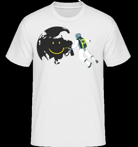 Smiling Moon - Shirtinator Men's T-Shirt - White - Vorn
