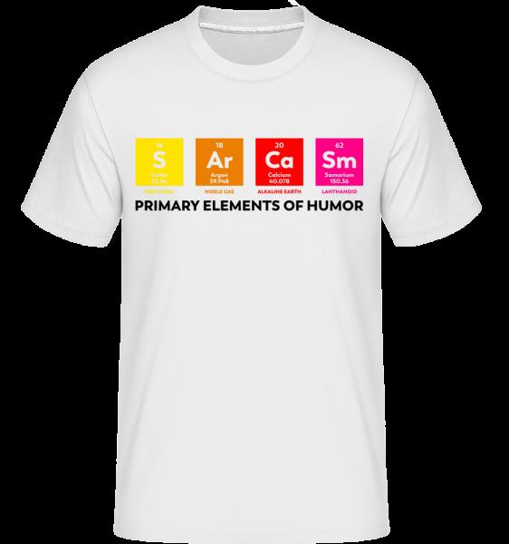 Primary Elements Of Humor - Shirtinator Männer T-Shirt - Weiß - Vorn