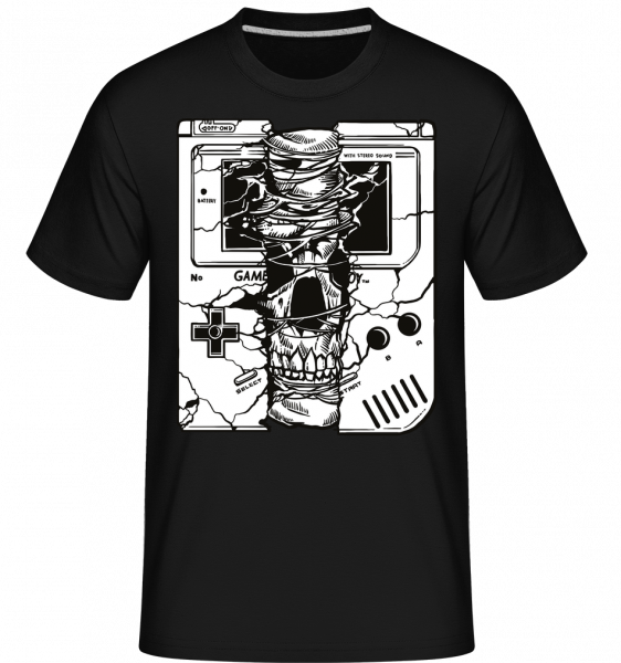 Gameboy Skull -  Shirtinator Men's T-Shirt - Black - Front