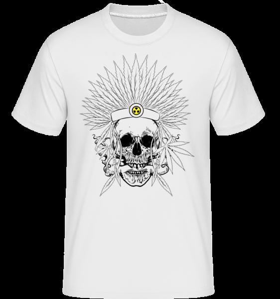 Totenkopf Tattoo - Shirtinator Männer T-Shirt - Weiß - Vorn