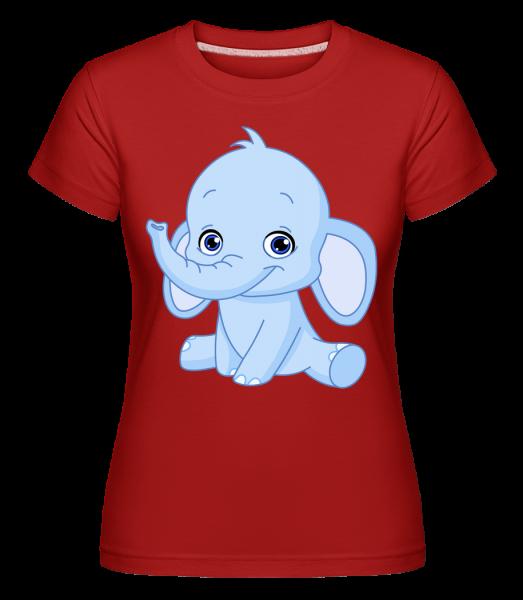 Elefant Comic - Shirtinator Frauen T-Shirt - Rot - Vorn