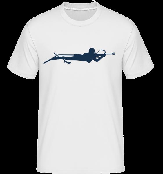 Biathlon Blue - Shirtinator Männer T-Shirt - Weiß - Vorn