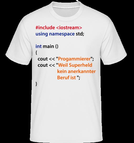 Ich Bin Programmierer - Shirtinator Männer T-Shirt - Weiß - Vorn