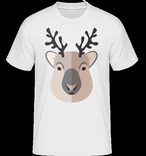 Deer Comic Shadow -  Shirtinator Men's T-Shirt - White - Vorn