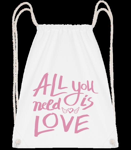 All You Need Is Love - Turnbeutel - Weiß - Vorn