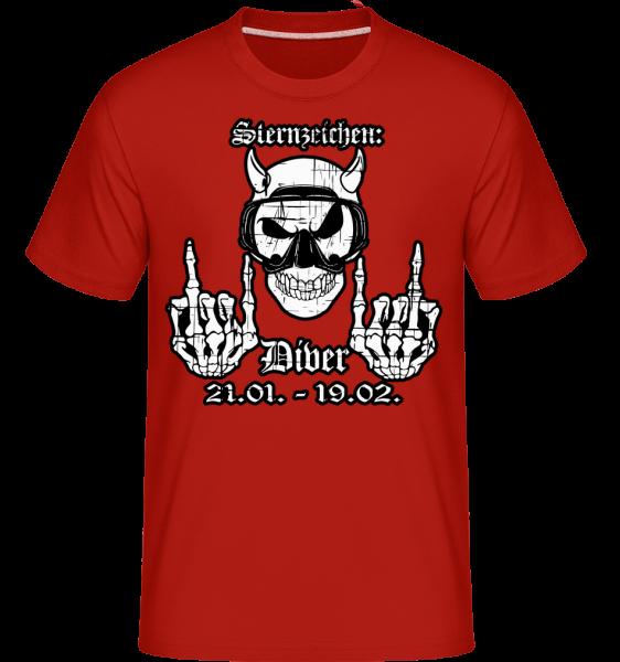 Metal Sternzeichen Wider - Shirtinator Männer T-Shirt - Rot - Vorn