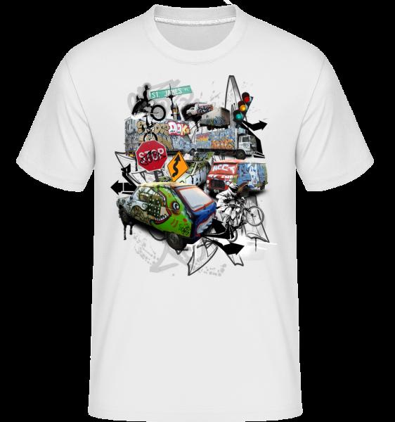 Verkehr Chaos - Shirtinator Männer T-Shirt - Weiß - Vorn