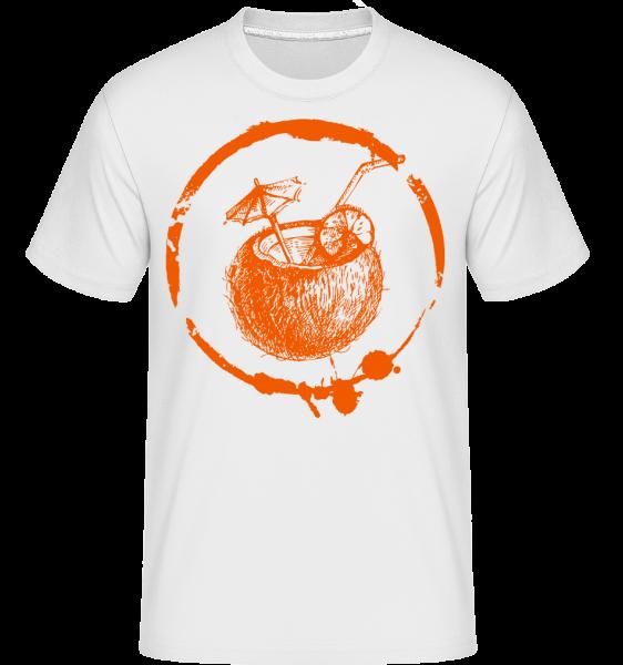 Holidays Cocktail - Shirtinator Männer T-Shirt - Weiß - Vorn