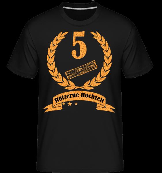 Hölzerne Hochzeit - Shirtinator Männer T-Shirt - Schwarz - Vorn