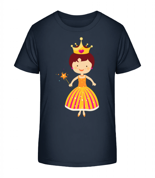 Princess Kids - Kid's Premium Bio T-Shirt - Navy - Front