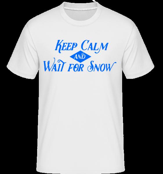Wait For Snow -  Shirtinator Men's T-Shirt - White - Vorn