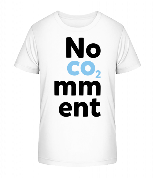 No Comment - Kinder Premium Bio T-Shirt - Weiß - Vorn