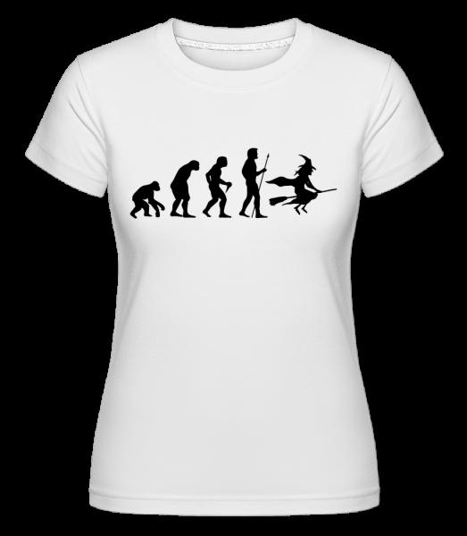 Evolution von Halloween - Shirtinator Frauen T-Shirt - Weiß - Vorn