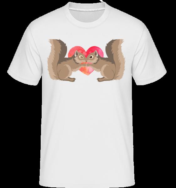 Eichhörnchen Liebe - Shirtinator Männer T-Shirt - Weiß - Vorn