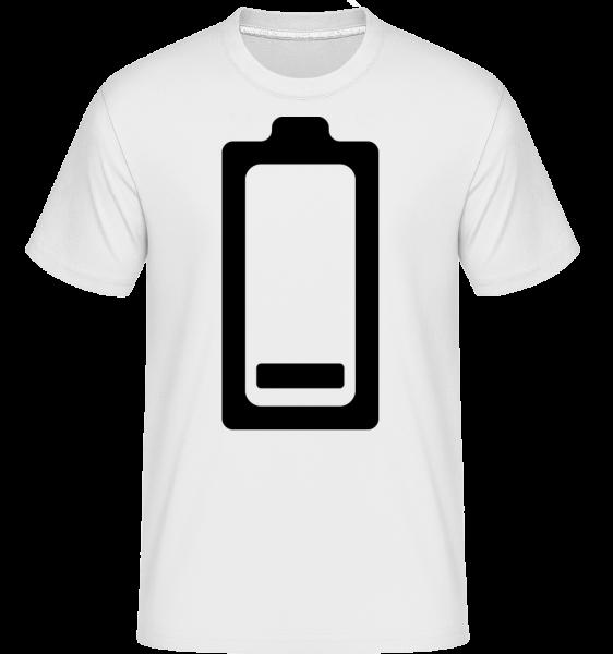 Battery Low Icon -  Shirtinator Men's T-Shirt - White - Vorn