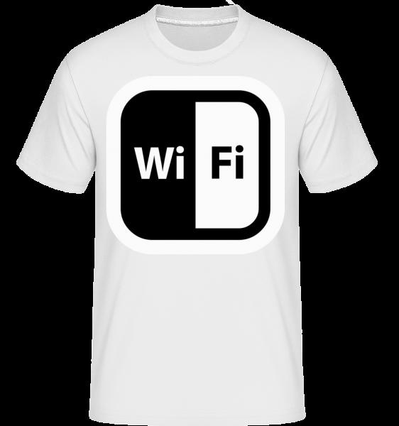 WiFi Icon Black/White -  Shirtinator Men's T-Shirt - White - Vorn