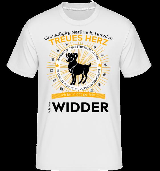 Sternzeichen Widder - Shirtinator Männer T-Shirt - Weiß - Vorn