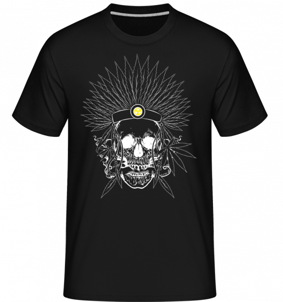 Totenkopf Tattoo - Shirtinator Männer T-Shirt - Schwarz - Vorn
