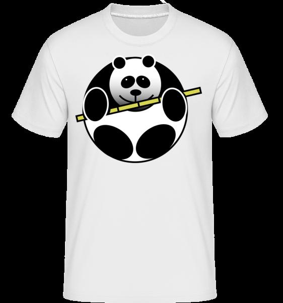 Panda Comic - Shirtinator Männer T-Shirt - Weiß - Vorn