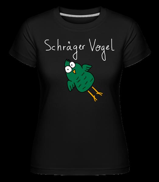Schräger Vogel - Shirtinator Frauen T-Shirt - Schwarz - Vorn
