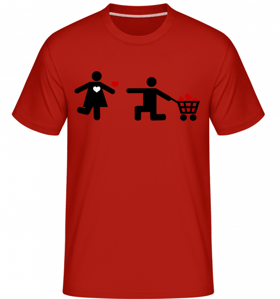 Woman And Man With Heart Logo -  Shirtinator Men's T-Shirt - Red - Vorn