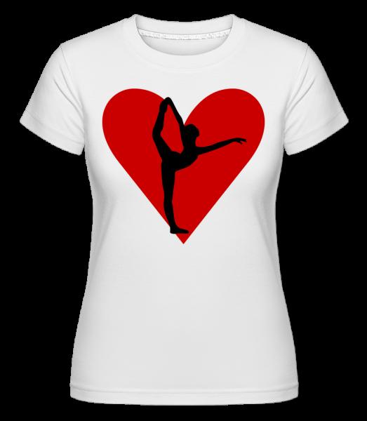Yoga Herz - Shirtinator Frauen T-Shirt - Weiß - Vorn