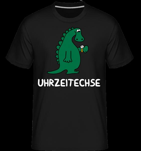 Uhrzeitechse - Shirtinator Männer T-Shirt - Schwarz - Vorn