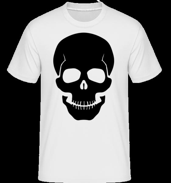 Skull Black - Shirtinator Men's T-Shirt - White - Vorn