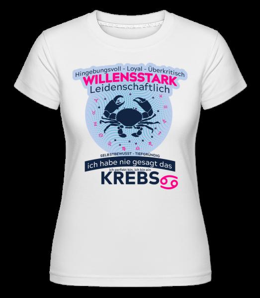 Sternzeichen Krebs - Shirtinator Frauen T-Shirt - Weiß - Vorn